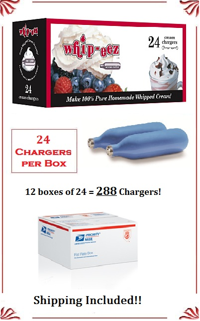 Whip Cream Chargers - (288 case)